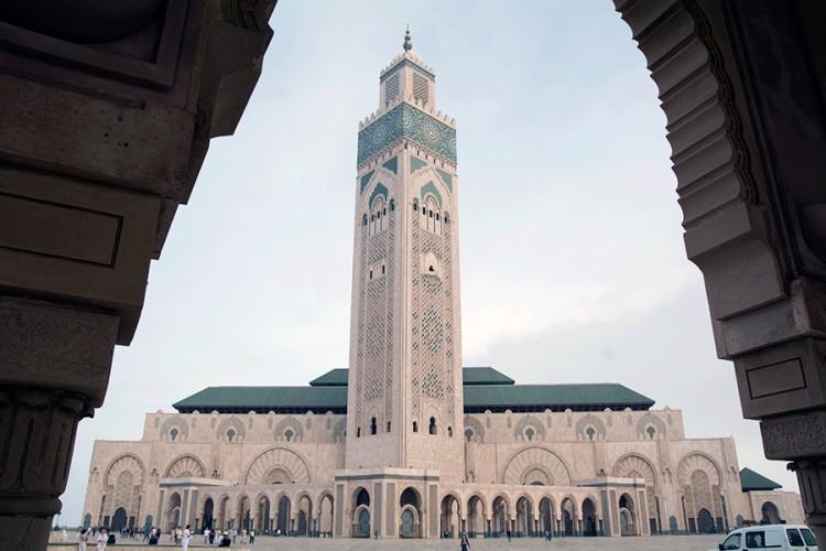 Kasablankoje stovi Didžioji Hasano II mečetė