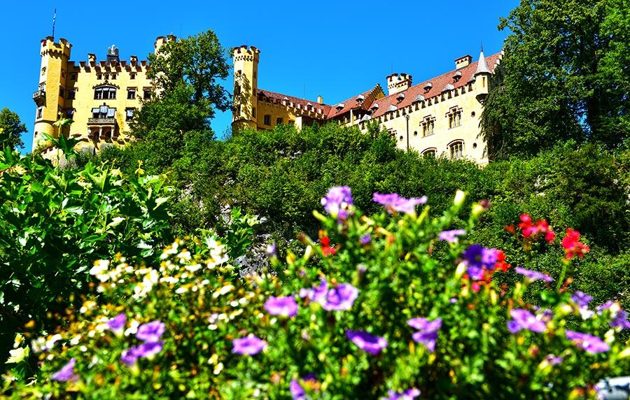Hohenšvangau pilis. Schloss Hohenschwangau