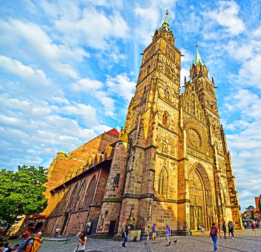 Gotikinė Šv. Lauryno bažnyčia, Niurnbergas, Vokietija