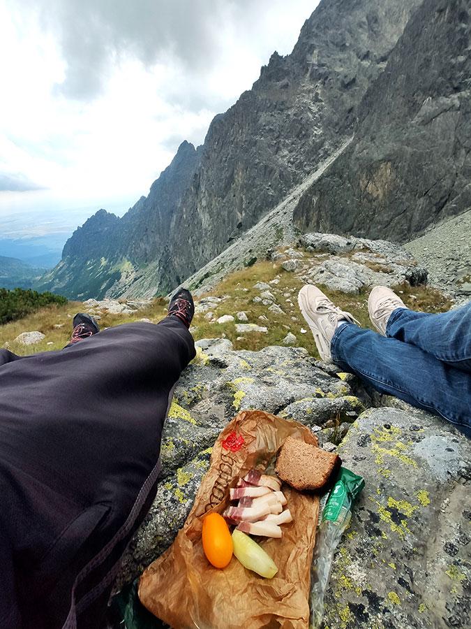 Aukštieji Tatrai, pietūs.
