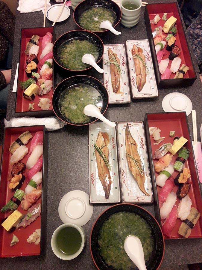 suši restoranas tokijuje