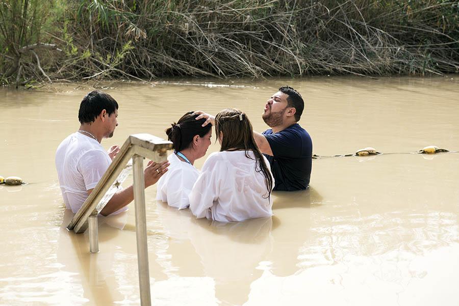 Jordano upė. Vieta kur buo pakrikštytas Jezus