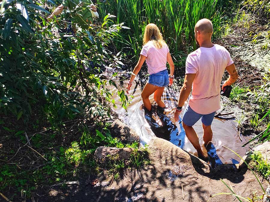 ekologiškas basų kojų takas