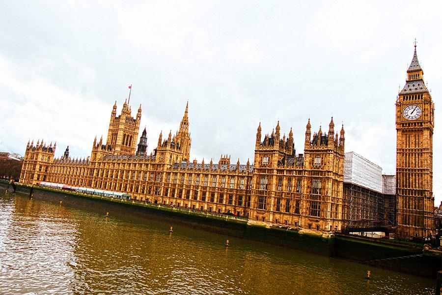 Didysis Benas (Big Ben) ir Anglijos Parlamento rūmai