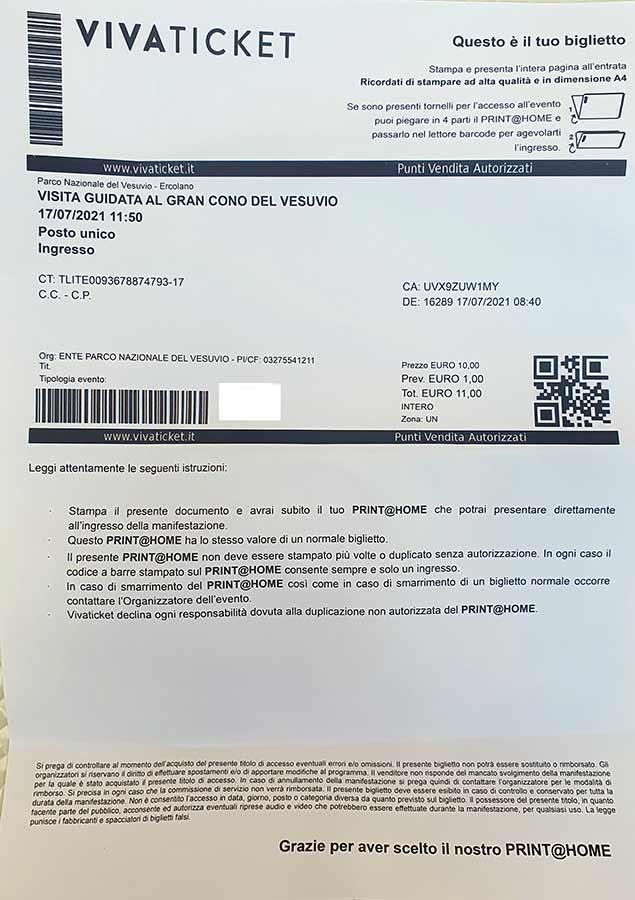 Bilietas į Vezuvijų
